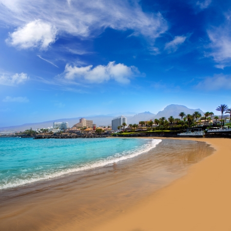 Las Americas Beach Adeje coast Beach in south Tenerife at Canary Islands photo