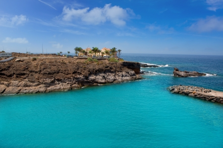 adeje: Beach Playa Paraiso costa Adeje in Tenerife at Canary Islands