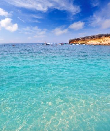 adeje: Adeje Costa El Puertecito in Tenerife clear water at Canary Islands Stock Photo