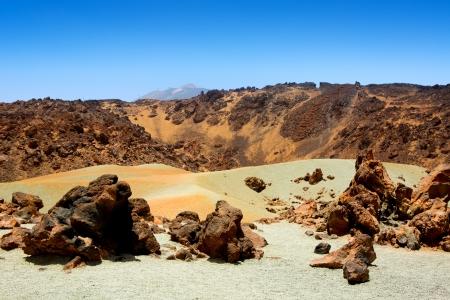 stratovolcano: Minas de San Jose in Teide National Park at Tenerife Canary Islands