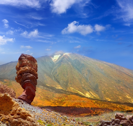 stratovolcano: Teide National Park Roques de Garcia in Tenerife at Canary Islands