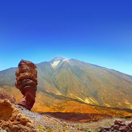 rock formation: Teide National Park Roques de Garcia in Tenerife at Canary Islands