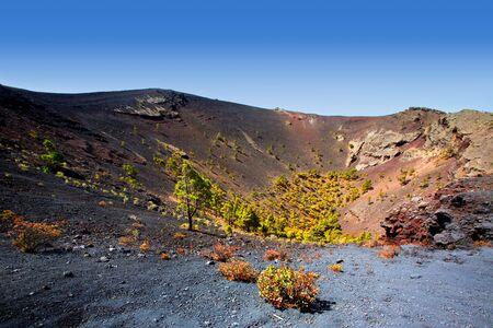 antonio: Crater in La Palma San Antonio volcano Fuencaliente at Canary islands Stock Photo