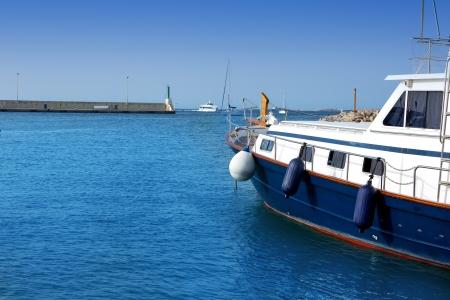 Formentera island marina La Savina in Balearic islands of Spain photo