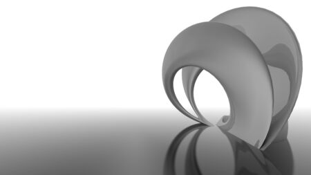 virtual sculpture: Abstract futuristic architecture organic shapes 3d render black and white