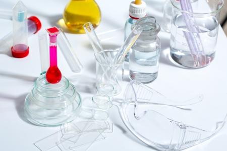 Chemical scientific laboratory stuff test tube flask pipette photo