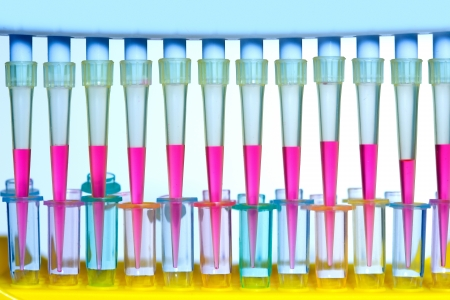 discovery channel: Chemical scientific laboratory multi channel pipette and test tubes
