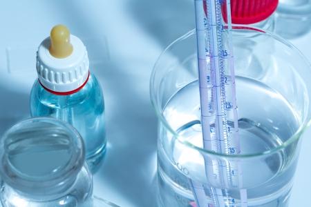 Chemical scientific laboratory stuff test tube flask pipette Stock Photo - 16649859
