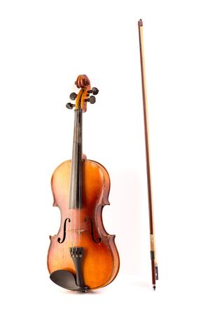 retro violin vintage isolated on white background Stock Photo - 17606630