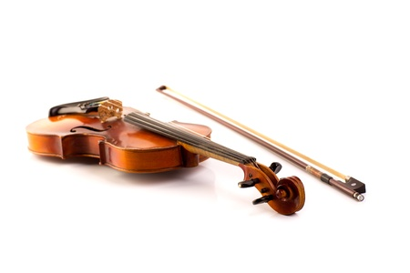 retro violin vintage isolated on white background Stock Photo - 17606620