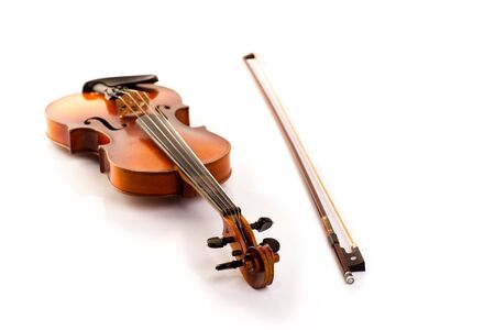 retro violin vintage isolated on white background Stock Photo - 17606622