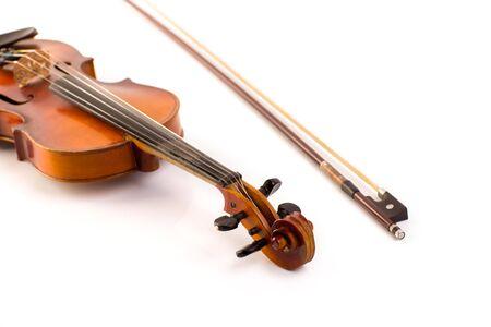 retro violin vintage  on white background Stock Photo - 17606638