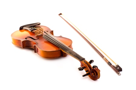 retro violin vintage isolated on white background Stock Photo - 17606623