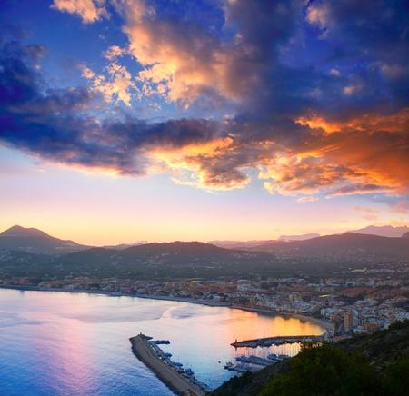 alicante: Alicante Javea sunset beach cityscape night view