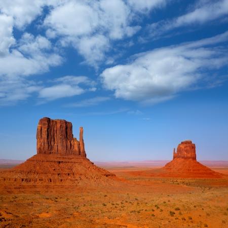 tribal park: Monument Valley West and East Mittens Butte Utah National Park