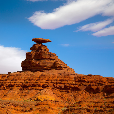 Mexican Hat rock US 163 Scenic road near Monument Valley in Utah Stock Photo - 22213747