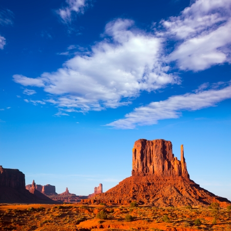 butte: Monument Valley West Mitten Butte Utah National Park Stock Photo