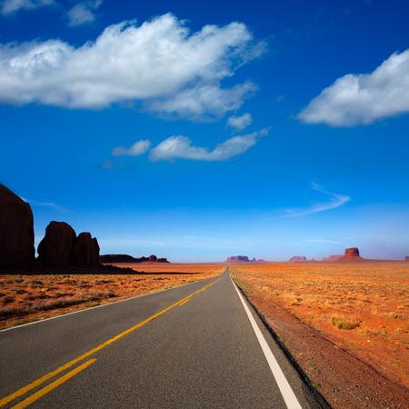 Arizona US 163 Scenic road to Monument Valley Park Stock Photo - 22213628