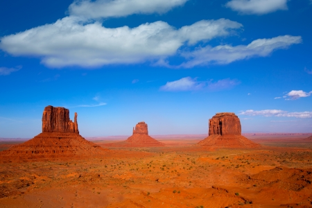 monuments: Monument Valley West and East Mittens and Merrick Butte Utah