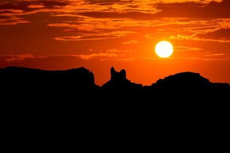 Sunset on US 163 Scenic road to Monument Valley Park Utah Stock Photo - 22213557