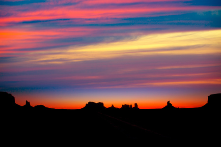 Sunrise on US 163 Scenic road to Monument Valley Park Utah Stock Photo - 22213564