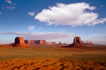 national monuments: Monument Valley Mittens from Artist point of national Park Utah