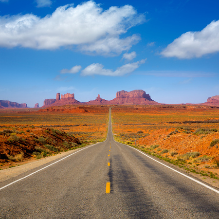 View from US 163 Scenic road to Monument Valley Park in Utah Stock Photo - 22213373