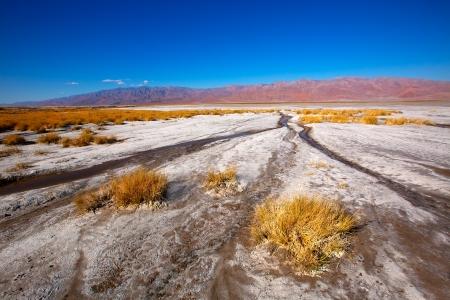 mojave: Death Valley National Park California Badwater salt soil desert