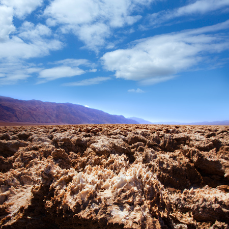 golf of california: Devils golf course Death Valley salt clay formations National Park California