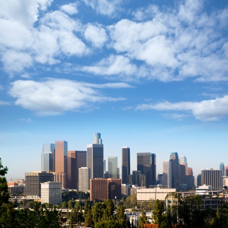 cityscape: Downtown LA Los Angeles skyline cityscape California