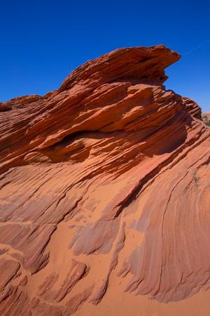 Arizona rocks on Page near Antelope Canyon under blue sky outdoor photo