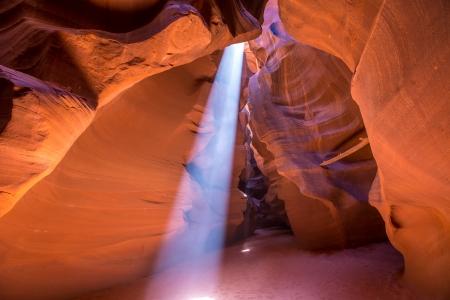 Antelope Canyon Arizona light beams on Navajo land near Page photo