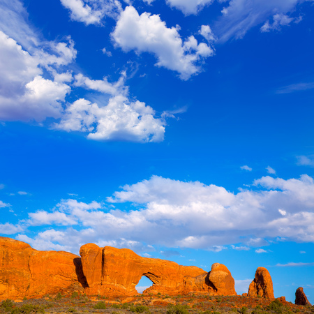 arches national park: Arches National Park Windows section in Moab Utah USA Stock Photo