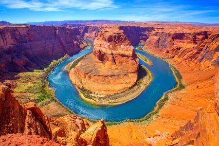 Arizona Horseshoe Bend meander of Colorado River in Glen Canyon