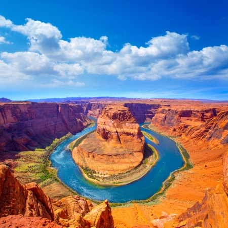 horse shoe: Arizona Horseshoe Bend meander of Colorado River in Glen Canyon