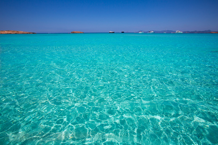 formentera: Illetes Illetas turquoise beach in Formentera Balearic Island Stock Photo