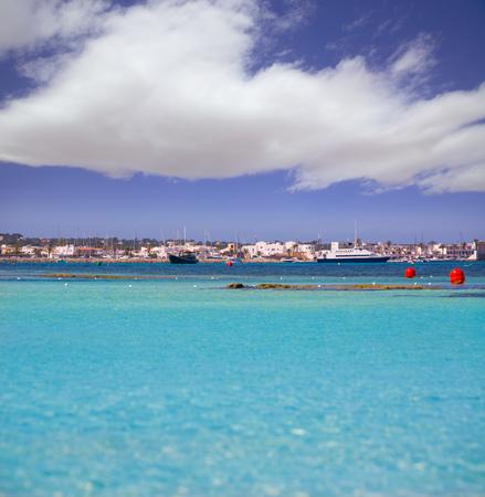 La Savina Sabina village and marina in Formentera Balearic Islands photo