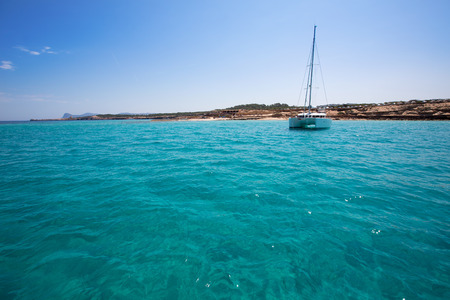 josep: Comte Conta Cala in Sant Josep of Ibiza at balearic islands Stock Photo