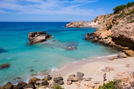 sant: Cala Tarida in Ibiza beach Sant Josep at Balearic Islands