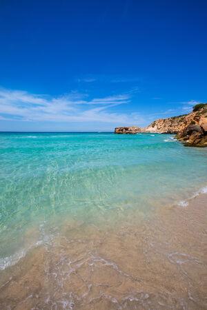 josep: Cala Tarida in Ibiza beach Sant Josep at Balearic Islands
