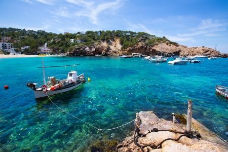 josep: Ibiza Cala Vedella Vadella in Sant Josep at Balearic Islands of spain Stock Photo