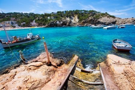 jose: Ibiza Cala Vedella Vadella in San Jose at Balearic Islands of spain Stock Photo