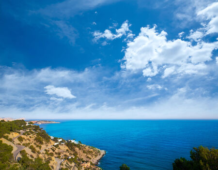 es: Ibiza Es Cubells Mediterranean view in san Jose at Balearic Islands of spain