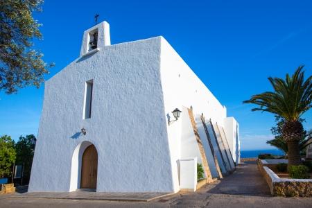 es: Ibiza Es Cubells church in san Jose at Balearic Islands of spain