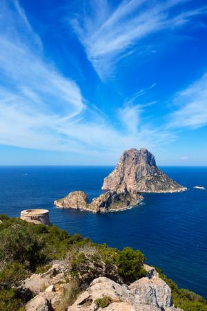 es: Ibiza Es Vedra view from Torre des Savinar Tower San Jose in Balearic Islands