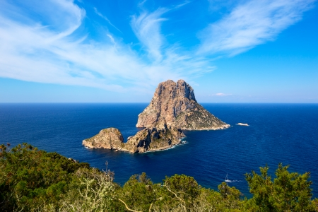 Ibiza Es Vedra and Vedranell from Torre des Savinar Sant Josep in Balearic Islands photo