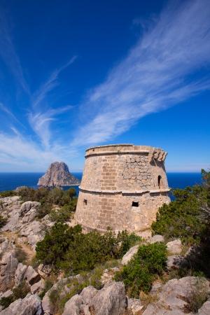 vedra: Ibiza Es Vedra view from Torre des Savinar Tower San Jose in Balearic Islands