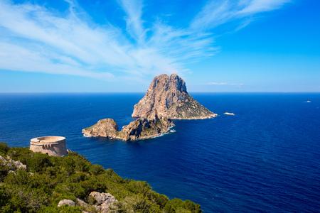 Ibiza Es Vedra vue de Torre des Savinar Tour San Jose à Îles Baléares