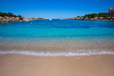 torrent: Ibiza Port des Torrent near San Antonio beach in Balearic Islands Spain Stock Photo