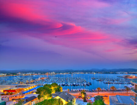 ibiza: Ibiza San Antonio Abad Sant Antoni Portmany sunset in Balearic islands